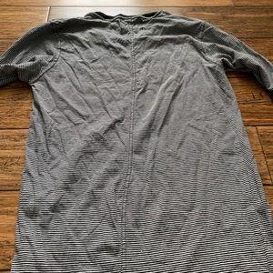 PacSun Shirts - Black and White Stripe Extra Long Shirt Tail Tee
